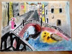 картина пастель венеция