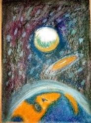 картина пастель космос