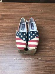 Слипоны Skechers американский флаг
