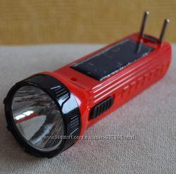 Фонарик с зарядкой от сети  от СОЛНЦА, аккумуляторный
