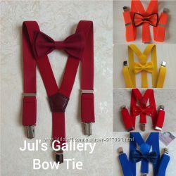 Подтяжки галстук бабочки комплект