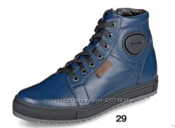 Зимние кожаные мужские ботинки ТМ Mida 14050