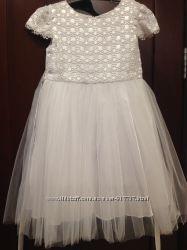 Нарядное белое платье Модные детки, 4-6лет