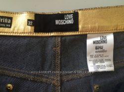 Золотые джинсы Love Mochino 32 размер