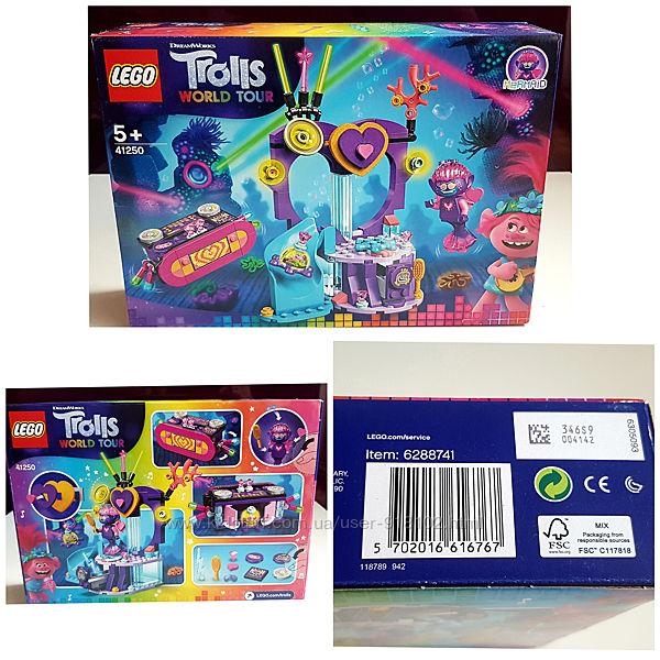 Lego 41250 Trolls World Tour Вечеринка на Техно-рифе, оригинал