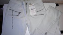 Новые брюки ZARA DENIM нежно зеленоватого цвета