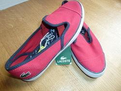 Текстильные туфли слипоны Lacostе. 32. Оригинал