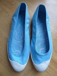 Текстильные туфли слипоны Lacostе 38-39. оригинал