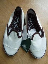 Текстильные спортивные туфли мокасины Lacoste, оригинал