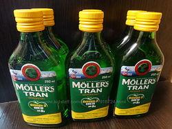 Mollers omega 3, рибячий жир cо вкусом лимона. Норвегия
