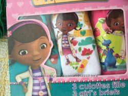 Трусики детские в коробке для девочек 3 шт. Дисней Доктор Плюшева