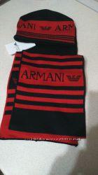 Новый комплект шапкашарф. ARMANI, размер 1