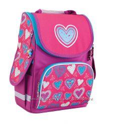 Ранец рюкзак школьный каркасный 553320 Blue heart Смарт