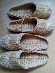 Обувь плетеная и коврики плетеные для сауны