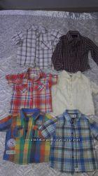 Брендовые рубашки 1-2 года 6 шт по цене одной