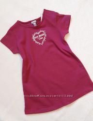 Летнее хлопковое платье для девочки, 12 месяцев