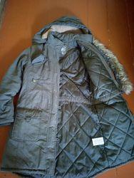 Куртка парка пальто цвет хаки , L, XL