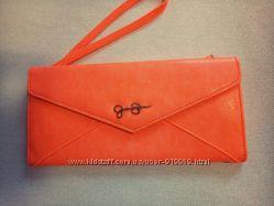 Клатч конверт, клатч-кошелёк неоновый оранжевый Jessica Simpson