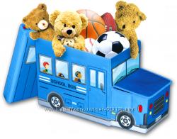 УНІВЕРСАЛЬНИЙ ПУФ АВТОБУС 3 В 1ящик для игрушек, игрушка, пуф