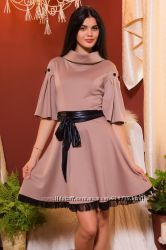 Женственное платье с пояском  G-401 от Natali vmode