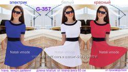 Платье трикотажное G-357 размеры от 40  до 48