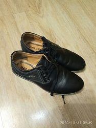 Черные туфли на сменку в школу 35 р-р мальчик