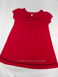 Ярко-красное платье GEORGE1-2 года
