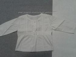 Блузочка котон под вышивку 0-4мес.
