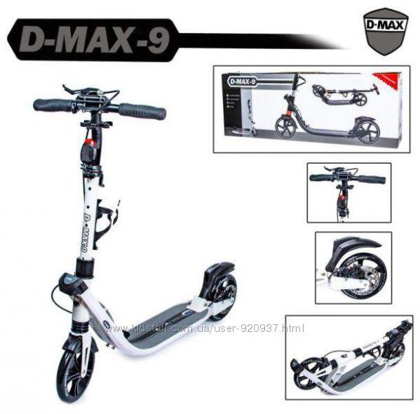 Самокат Scale Sports D-Max-9 ручной и задний тормоз