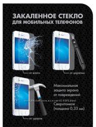Защитное антиударное каленое стекло на тел IPHONE Samsung Lenovo