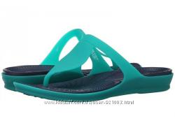 Пролет, шлепанцы, вьетнамки крокс Crocs rio flip flop US 8