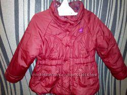 Бордовая демисезонная курточка. куртка Мехх в идеальном состоянии, 9-12 мес