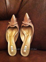 Кожаные туфли-лодочки