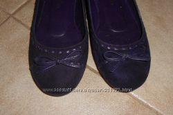Кокетливые туфли балетки натуральная замша. Размер 36