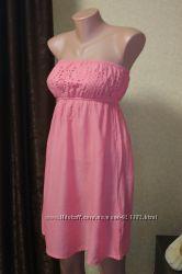 Летний сарафан f&f розового цвета. размер s