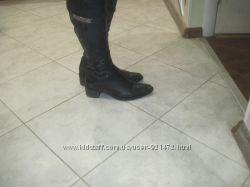 Кожаные черные сапоги Novita 37-38