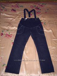 Продам джинсы для беременных размер 26 . Подтяжки в подарок.