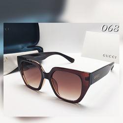 Женские очки  коричневые с широкими дужками