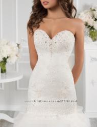 Свадебное платье гипюровое облегающее