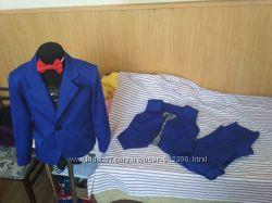 Нарядный Костюм тройка пиджак, брюки, жилет для мальчика. все размеры и цвет