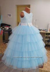 Длинные, пышные, красивые платья для девочек.