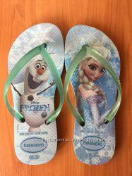 Флип-флопы, вьетнамки, шлёпанцы брендовые Disney FROZEN