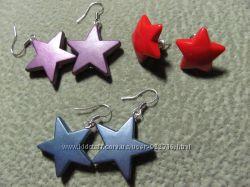 Серьги, сережки, звезды, звездочки