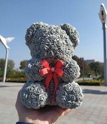 Мишка из роз 20 см