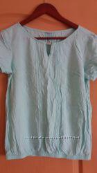 Женская блузка светло бирюзового цвета 100 хлопок