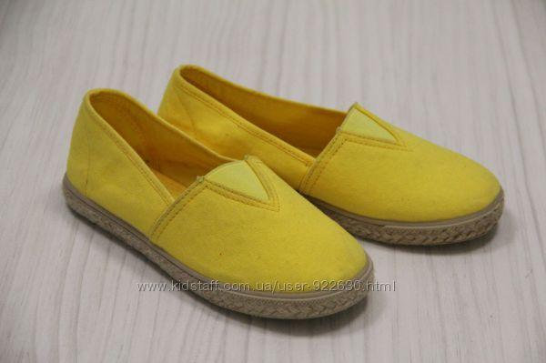 Детские эспадрильи Chicco желтые