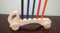 Деревянные подставки для карандашей  Деревяні підставки для олівців