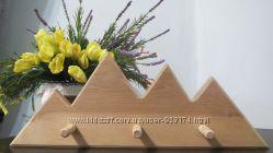 Деревянные изделия  для декора вешалка дом Деревяні вироби для декору вішак