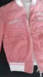 Куртка замш бомбер оригинал Италия