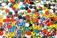 Стразы опалы, прозрачныe, хамелионы, разноцветные, стекло, аналог Сваровски